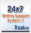 24x7 Online Support System !!